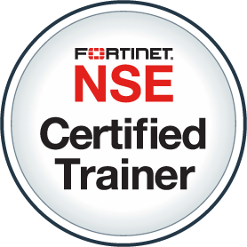 Fortinet certified trainer badge
